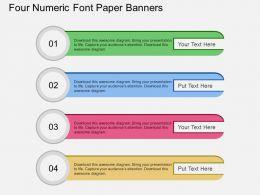 sc Four Numeric Font Paper Banners Flat Powerpoint Design