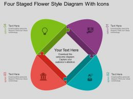 Sc Four Staged Flower Style Diagram With Icons Flat Powerpoint Design