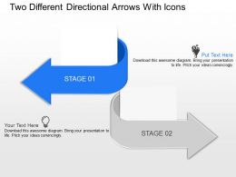 Sc Two Different Directional Arrows With Icons Powerpoint Template