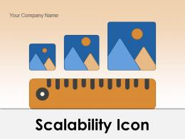 Scalability Icon Balancer Business Database Manufacturing Capability Arrows Growth Production