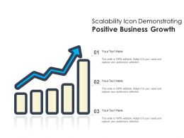 Scalability Icon Demonstrating Positive Business Growth