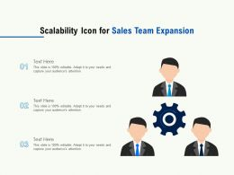 Scalability Icon For Sales Team Expansion
