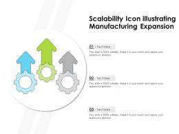 Scalability Icon Illustrating Manufacturing Expansion