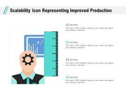 Scalability Icon Representing Improved Production