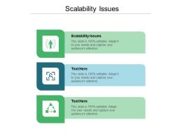 Scalability Issues Ppt Powerpoint Presentation Ideas Graphics Template Cpb