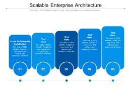 Scalable Enterprise Architecture Ppt Powerpoint Presentation Ideas Aids Cpb