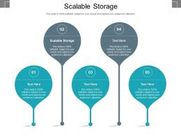 Scalable Storage Ppt Powerpoint Presentation Icon Visual Aids Cpb