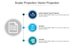 Scalar Projection Vector Projection Ppt Powerpoint Presentation Gallery Deck Cpb