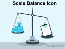 Scale Balance Icon Holding Circle Presentation Chart Document Dollar Property Money Bags Briefcase