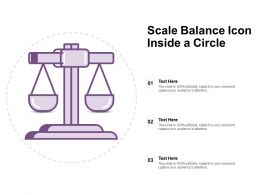 Scale Balance Icon Inside A Circle