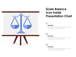 Scale Balance Icon Inside Presentation Chart
