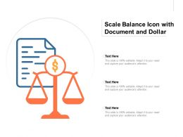 Scale Balance Icon With Document And Dollar