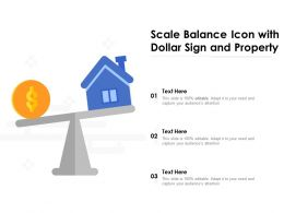 Scale Balance Icon With Dollar Sign And Property