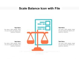 Scale Balance Icon With File