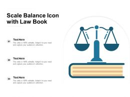 Scale Balance Icon With Law Book