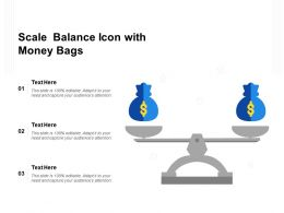 Scale Balance Icon With Money Bags