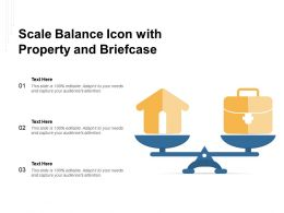 Scale Balance Icon With Property And Briefcase