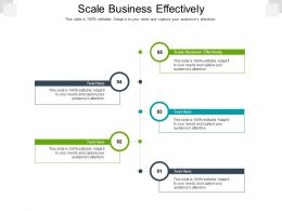 Scale Business Effectively Ppt Powerpoint Presentation Gallery Graphic Tips Cpb
