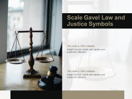 Scale Gavel Law And Justice Symbols