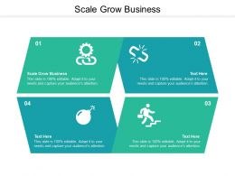 Scale Grow Business Ppt Powerpoint Presentation Ideas Professional Cpb