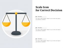 Scale Icon For Correct Decision