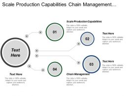 Scale Production Capabilities Chain Management Performance Improvement Process