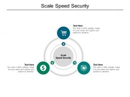 Scale Speed Security Ppt Powerpoint Presentation Outline Structure Cpb