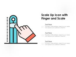 Scale Up Icon With Finger And Scale