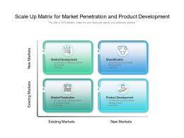 Scale Up Matrix For Market Penetration And Product Development