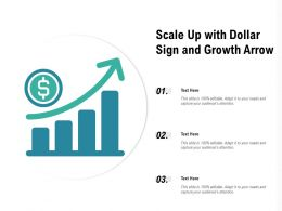 Scale Up With Dollar Sign And Growth Arrow