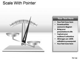 Scale With Pointer Powerpoint Presentation Slides