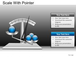 Scale With Pointer Powerpoint Presentation Slides DB
