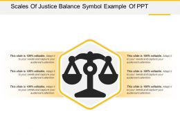 Scales Of Justice Balance Symbol Example Of Ppt