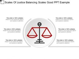 Scales Of Justice Balancing Scales Good PPT Example