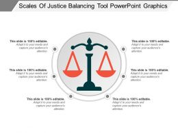 Scales Of Justice Balancing Tool Powerpoint Graphics