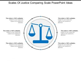 Scales Of Justice Comparing Scale Powerpoint Ideas