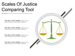 Scales Of Justice Comparing Tool Powerpoint Presentation