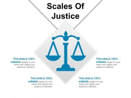 Scales Of Justice PowerPoint Slide