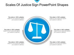Scales Of Justice Sign Powerpoint Shapes