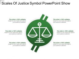 Scales Of Justice Symbol Powerpoint Show