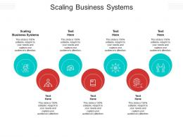 Scaling Business Systems Ppt Powerpoint Presentation Inspiration Pictures Cpb
