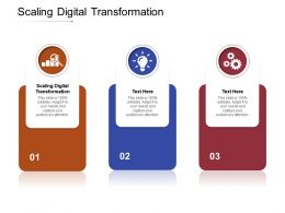 Scaling Digital Transformation Ppt Powerpoint Presentation Outline Master Slide Cpb