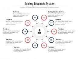 Scaling Dispatch System Ppt Powerpoint Presentation Outline Designs Download Cpb