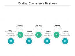 Scaling Ecommerce Business Ppt Powerpoint Presentation Gallery Demonstration Cpb
