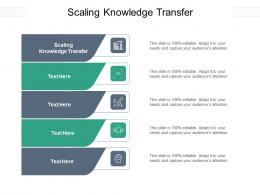 Scaling Knowledge Transfer Ppt Powerpoint Presentation Layouts Graphics Download Cpb