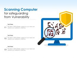 Scanning Computer For Safeguarding From Vulnerability