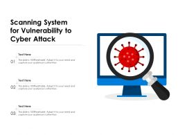 Scanning System For Vulnerability To Cyber Attack
