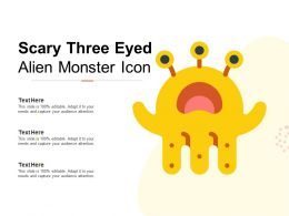 Scary Three Eyed Alien Monster Icon