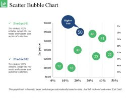 Scatter Bubble Chart Powerpoint Slide