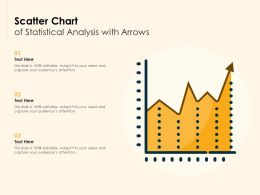 Scatter Chart Of Statistical Analysis With Arrows